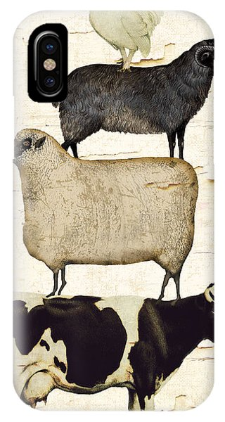 Cow iPhone Case - Farm Animals Pileup by Mindy Sommers