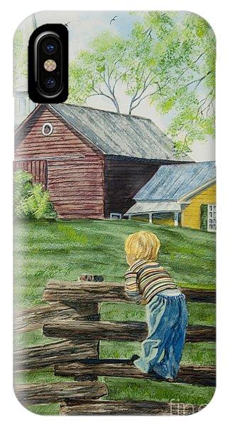 New England Barn iPhone Case - Farm Boy by Charlotte Blanchard