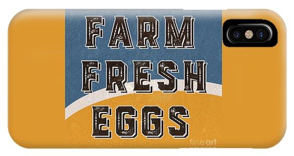 Farm Fresh Eggs Retro Vintage Sign IPhone Case