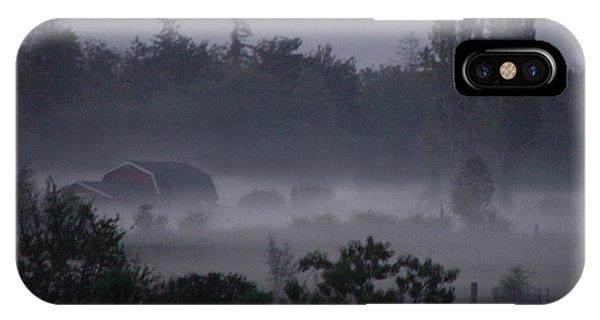 Farm In Fog IPhone Case