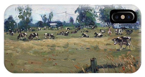Georgetown iPhone Case - Farm In Terra Cotta On by Ylli Haruni