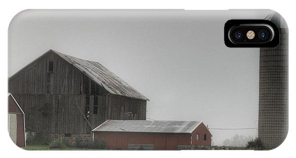 0011 - Farm In The Fog II IPhone Case