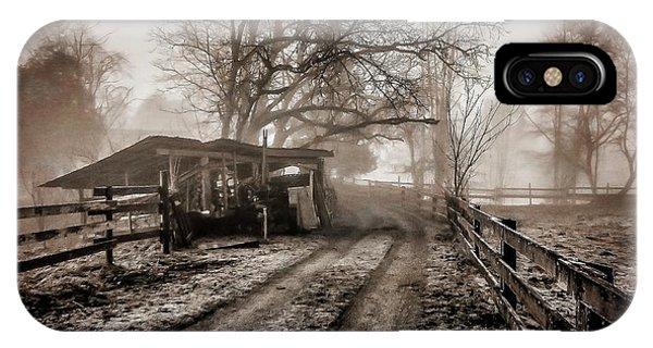 iPhone Case - Farm Road Late Autumnl. by Bill Linn
