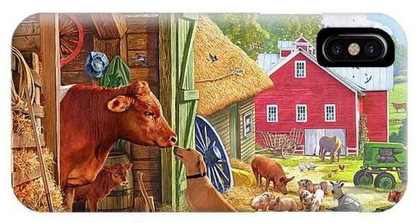 Swallow iPhone Case - Farm Scene In America by Steve Crisp