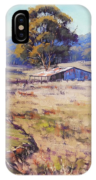 Rural Scenes iPhone Case - Farm Shed Pyramul by Graham Gercken