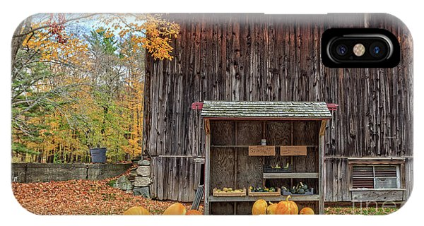 New England Fall Foliage iPhone Case - Farm Stand Etna New Hampshire by Edward Fielding