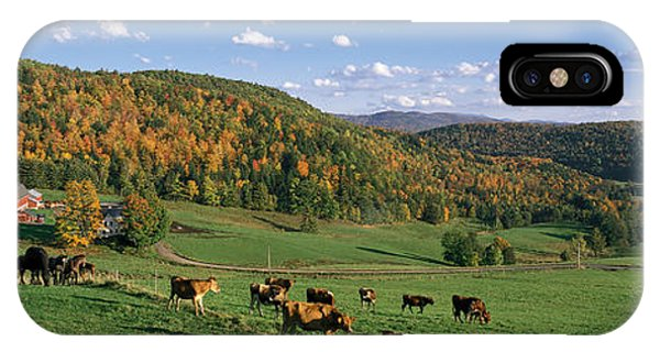 New England Barn iPhone Case - Farm Vt Usa by Panoramic Images