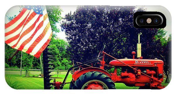 Farmall And Flag IPhone Case