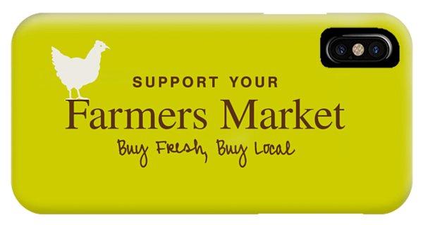 IPhone Case featuring the digital art Farmers Market by Nancy Ingersoll