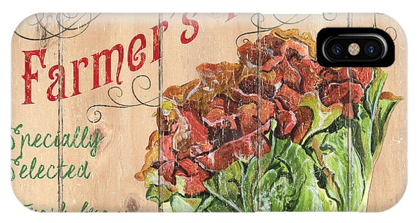 Lettuce iPhone Case - Farmer's Market Sign by Debbie DeWitt