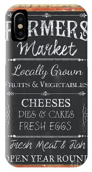 Cake iPhone Case - Farmer's Market Signs by Debbie DeWitt