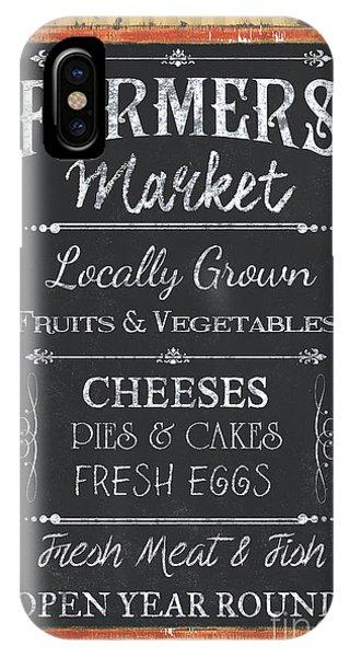 Market iPhone Case - Farmer's Market Signs by Debbie DeWitt