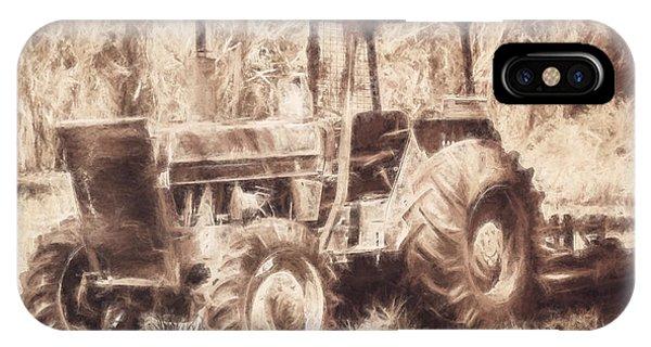 Farm Tool iPhone Case - Farmers Tractor Working In Australia Farmyard by Jorgo Photography - Wall Art Gallery