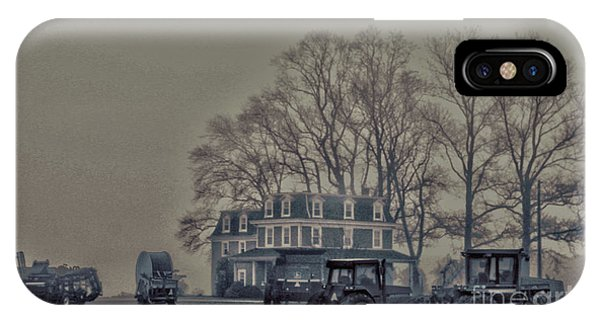Farmhouse In Morning Fog IPhone Case