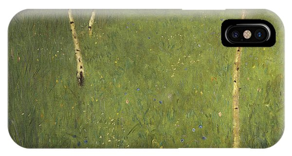 1862 iPhone Case - Farmhouse With Birch Trees by Gustav Klimt