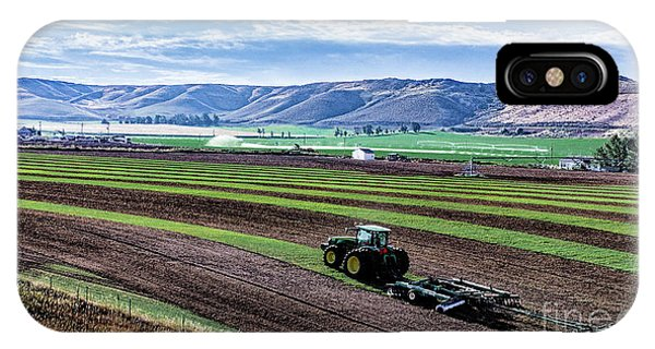 Farming In Pardise Agriculture Art By Kaylyn Franks IPhone Case