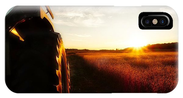 Farming Until Sunset IPhone Case