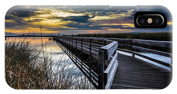 Farmington Bay Sunset - Great Salt Lake IPhone Case