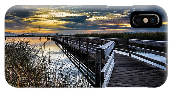 Farmington Bay Sunset - Great Salt Lake IPhone Case