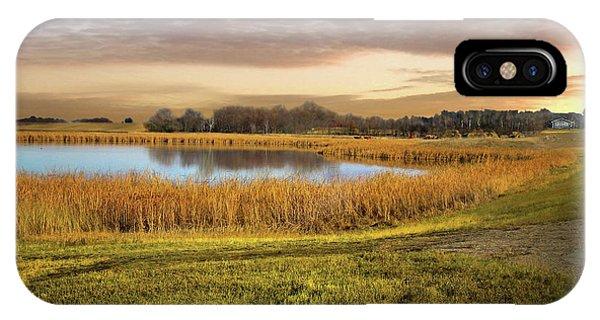 Farmland Pond IPhone Case
