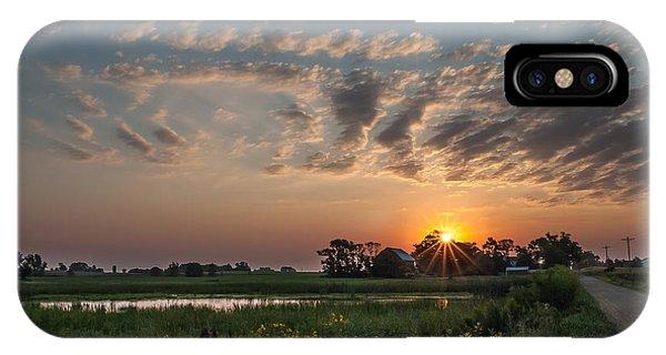 Farmstead Sunrise IPhone Case