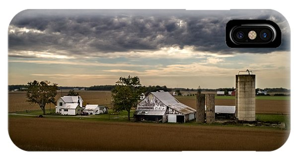Farmstead Under Clouds IPhone Case