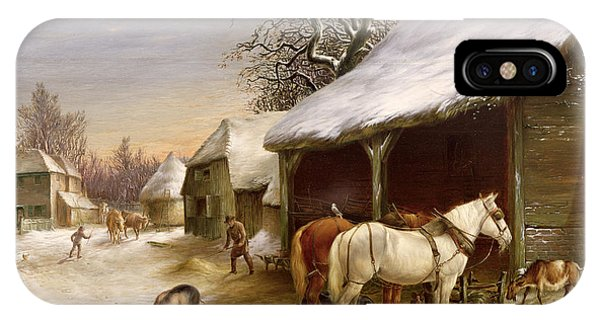 Farmyard In Winter  IPhone Case
