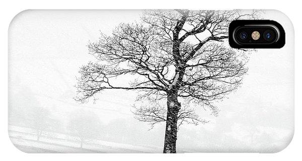 Sheep iPhone X / XS Case - Farndale Winter by Janet Burdon