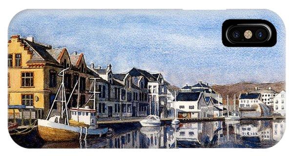 Farsund Dock Scene 2 IPhone Case