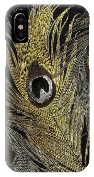 Silver And Gold iPhone Case - Fashion Feathers II by Mindy Sommers