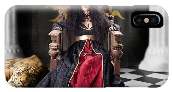 Imposing iPhone Case - Fashion Queen In Crown Sitting In Jester Court by Jorgo Photography - Wall Art Gallery