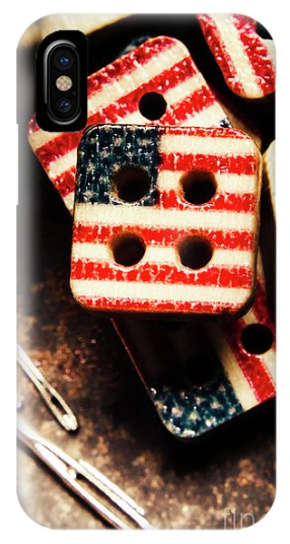 Textile Design iPhone Case - Fashioning A Usa Design by Jorgo Photography - Wall Art Gallery