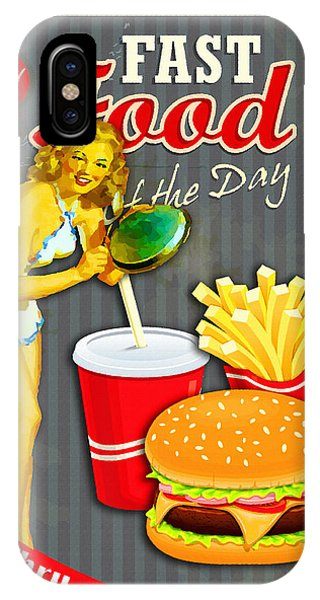 Frozen Food iPhone Case - Fast Food Of The Day by Don Kuing