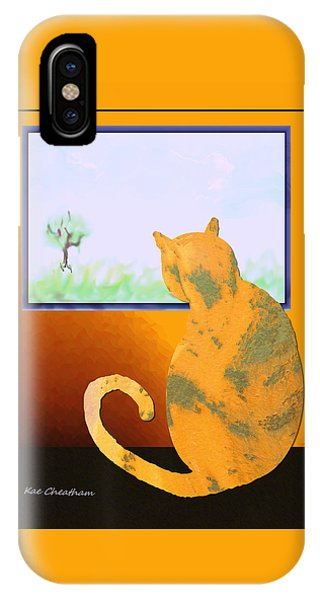 Fat Cat At Her Window IPhone Case