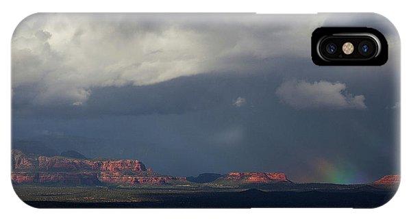 Fat Ground Rainbow, Red Rocks Sedona IPhone Case