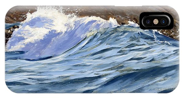 IPhone Case featuring the painting Fat Wave by Lawrence Dyer