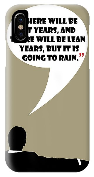 Fat Years - Mad Men Poster Don Draper Quote IPhone Case