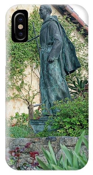 Father Junipero Serra Statue At Mission Carmel IPhone Case