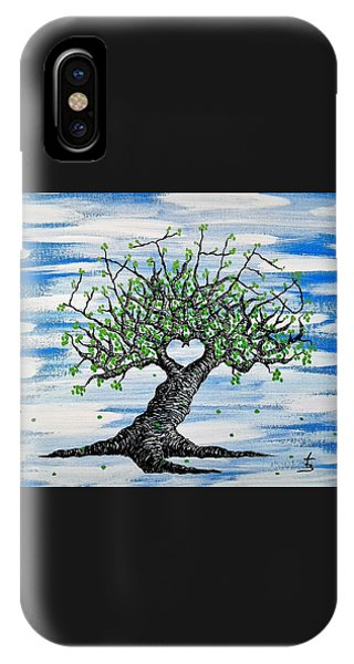 IPhone Case featuring the drawing Father Love Tree by Aaron Bombalicki