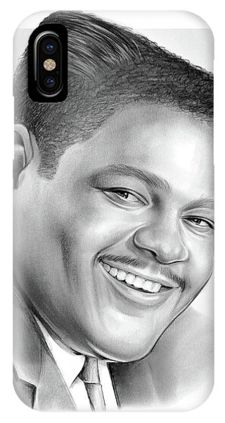 Drum iPhone Case - Fats Domino by Greg Joens