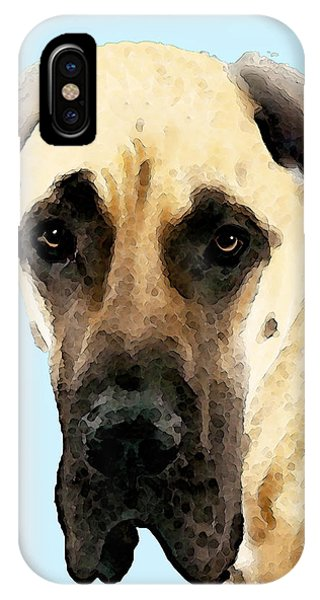 Soulful iPhone Case - Fawn Great Dane Dog Art Painting by Sharon Cummings