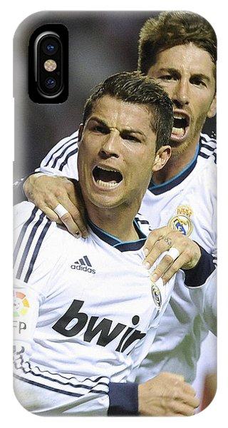 Cristiano Ronaldo iPhone Case - Cristiano Ronaldo 11 by Rafa Rivas