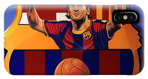 Argentina iPhone X Case - Fc Barcelona Painting by Paul Meijering