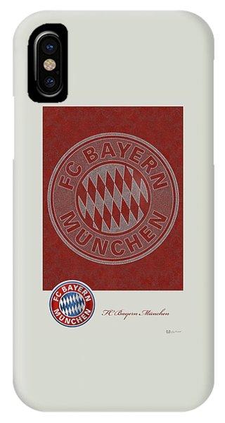 Fc Bayern Munich Logo And 3d Badge IPhone Case