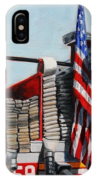 Harlem iPhone Case - Fdny Engine 59 American Flag by Paul Walsh