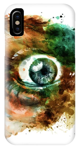 Fear Eye Watercolor IPhone Case