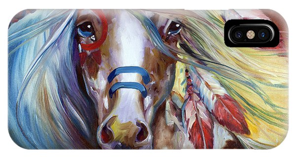 Fearless Indian War Horse IPhone Case