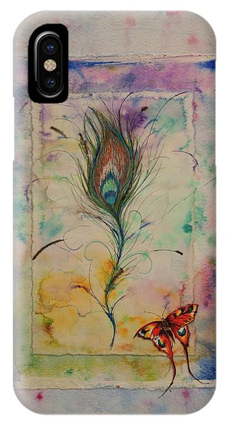 Feather And Butterfly IPhone Case
