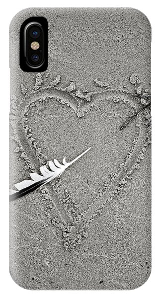 Feather Arrow Through Heart In The Sand IPhone Case