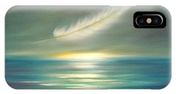 Feather At Sunset IPhone Case